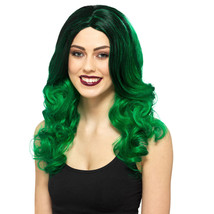 Enchanting Long Green Wig Halloween Costume Dress Up Cosplay Witch - NEW - $16.24