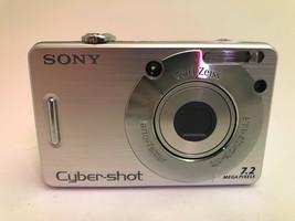 Sony Cyber-shot DSC-W70 7.2MP Digital Camera - Silver for Parts - $16.48