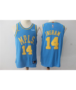 New L.A. Lakers #14 Brandon Ingram basketball jersey Blue - $26.66