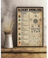 Alchemy Knowledge Vertical Art Print Poster, Indoor Home Decoration Gift - $25.59+