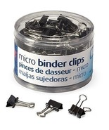 Officemate Micro Binder Clip  Paper Black Metal Office Document Papercli... - $10.39