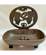 Metal Cast Iron Deer Bucks Woodland Forest Soap Holder Bathroom Decor 4.... - $29.95
