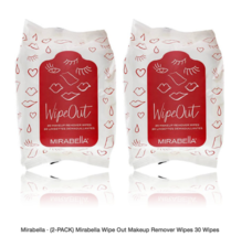 (2-Pack) Mirabella Wipe Out Makeup Remover Wipes 30 Wipes  - $32.99