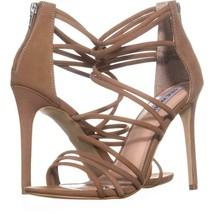 Steve Madden Santi Strappy Dress Sandals 911, Camel Leather, 10 US - $36.47