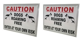 External A4 'DOGS ROAMING FREE' Warning Sign (pack of 2) - $11.79