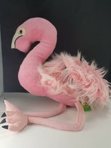 "Wild Republic Hot Pink Flamingo Large Plush Pink Eyes Stuffed 20"" Soft Shiny - $16.82"