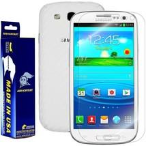 ArmorSuit MilitaryShield Samsung Galaxy S3 Screen + White Carbon Fiber Skin! New - $32.99