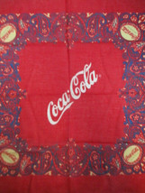 Coca-Cola Vintage Bottle Cap Bandana Head Wrap Neck Scarf Face Mask Red - $5.94