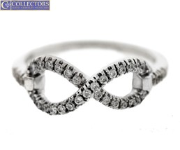 Lovely Ladies EFFY 925 Sterling Silver 0.33ctw Diamond Infinity Promise ... - $156.00