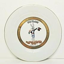Bugs Bunny Happy 50th Birthday 1989 Plate Warner Bros Vintage Six Flags - $16.44