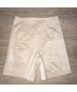VINTAGE Va Bien GIRDLE Satin Nylon Made USA Beige four garter tabs Size ... - $18.59