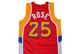 Derrick Rose #25 McDonald's All American Men Basketball Jersey Red Any Size image 5