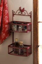 Red Rooster Double Wall Rack - $49.95