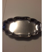 SILVER FOOTED SERVING PLATTER FROM ENGLISH SILVER MFG CORP ~ MADE IN USA - $29.69