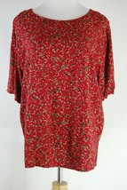 Women's Chaus Flower Print Top - Size 14 (see measurements) - $12.60