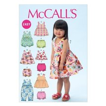 McCall Pattern Company M6944 Toddlers' Top, Dresses, Rompers and Panties, Size C - $14.21