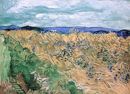 Wheatfield With Cornflowers Painting by Vincent van Gogh Art Reproduction - $32.99+
