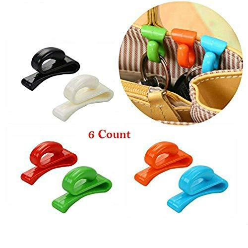 AKOAK 6 Pieces Assorted Color Handbag Key Organizer Key Clips Key Hook Hangers f