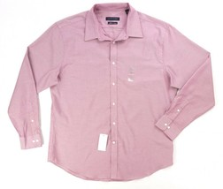 NEW TOMMY HILFIGER RED PIN DOT ATHLETIC FIT THFLEX DRESS SHIRT SIZE 16.5... - $21.77