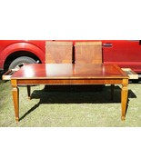 Ethan Allen Townhouse Banded Flame Mahogany Dining Room Table w/ 2 Leafs  - $604.57