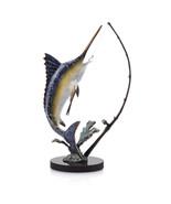 Fighting Marlin Swordfish with Tackle Sculpture * Atlantic Catch Deep Se... - $165.00