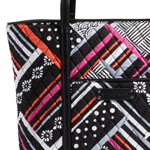 Vera Bradley Small Trimmed Vera Bag, Northern Stripes image 4