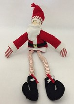 "Pottery Barn Kids Santa Claus Plush Doll Toy Decoration Long Legs PBK 21"" - $39.59"