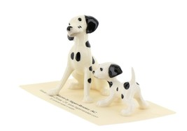 Hagen Renaker Dog Dalmatian Papa and Puppy Ceramic Figurine Set image 1