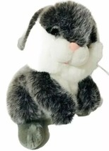 "Fiesta SOFT GREY WHITE BUNNY 12"" Plush Stuffed Animal Easter - $27.27"