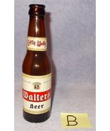 B Walters Beer 7 Oz Little Wally Bottle, Walter Brewing Co Eau Claire Wi... - $7.95