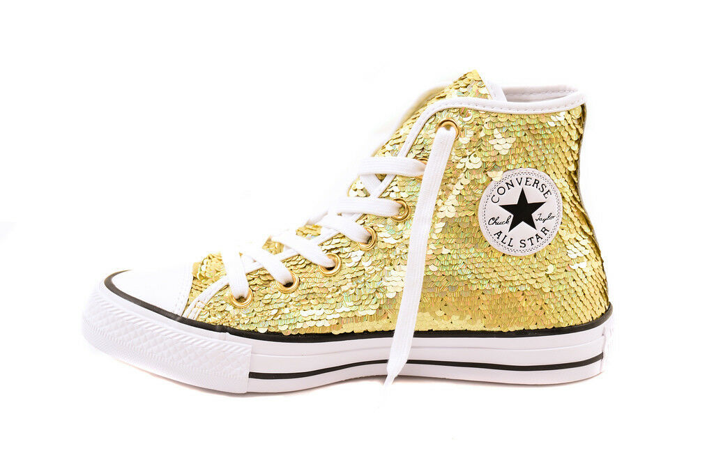 Converse Womens CTAS HI 553439C Sneakers Gold Size US 6 RRP $134
