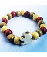 Chunky Wood Bead Elephant Bracelet. Help Support Wounded Warrior  - $4.55