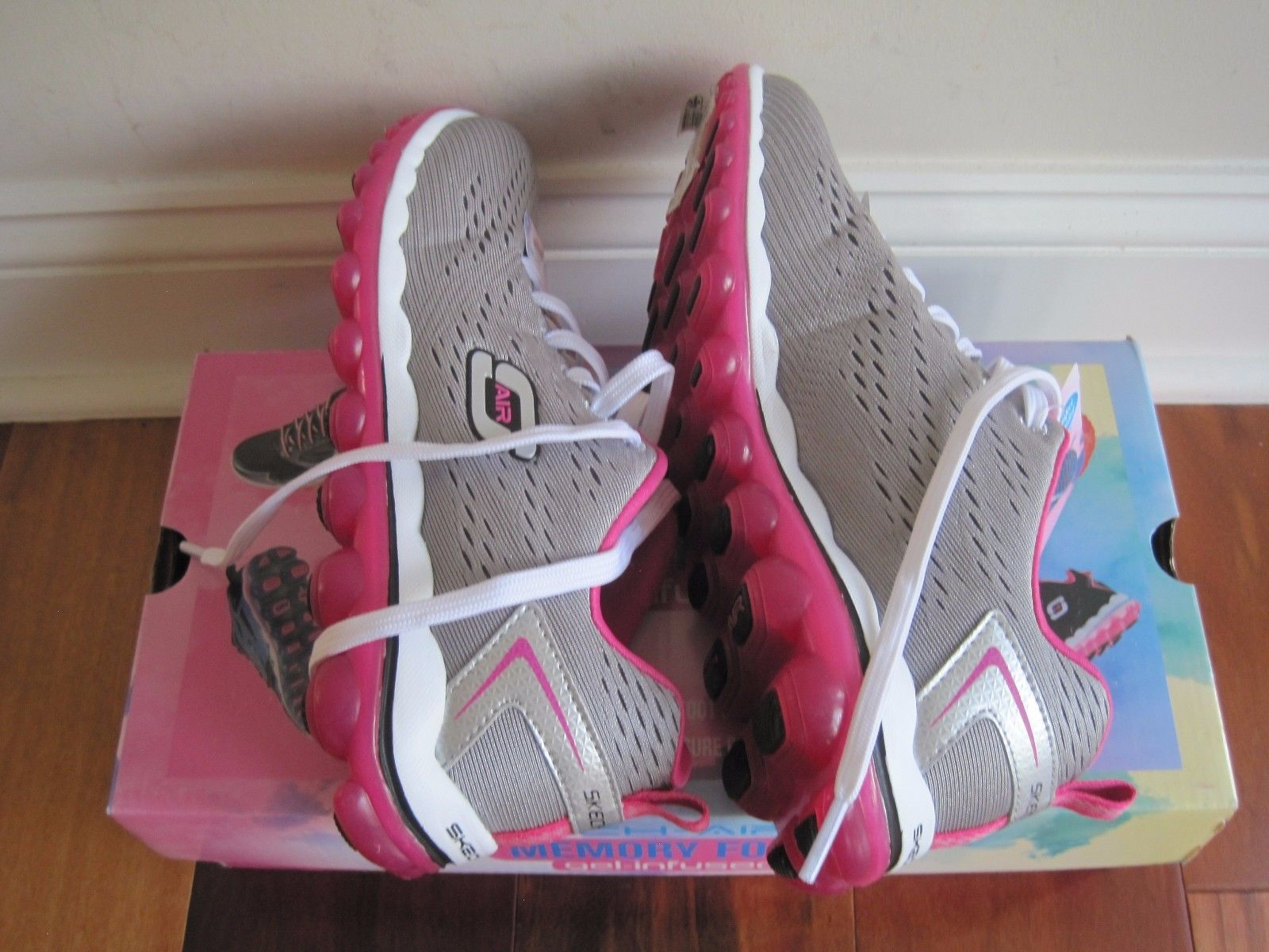"BNIB Skechers® Women's ""Skech-Air 2.0"" Aim High Training Shoes, grey/pink, $85 image 3"