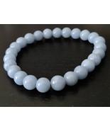 Angelite gemstone stretch bracelet #024 - $17.50