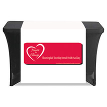 Customized Table Runners 2' x 6' Free Design with 9.0 oz Advertise your business image 2
