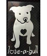 DOG - Vinyl Love a Bull stickers for car auto Laptop Rescue Dog Heart De... - $4.90