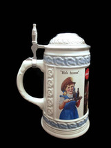 Coca-Cola Ceramic Stein with Vintage Advertising Art Work Scenes - BRAND... - $32.67