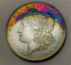1891 PL RAW  MORGAN SILVER DOLLAR . KEY DATE  516 - $171.50