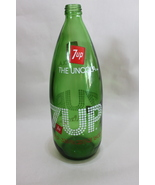 Vintage Empty Green Glass 7up Bottle 1 Liter - $9.95