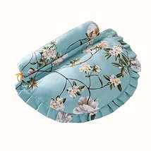 Adult Spine Pillow Buckwheat Pillow Protect Neck Pillow Light Blue Flower - $46.86