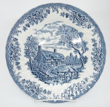 "Churchill The Brook Blue Dinner Plate 10"" Cottage Made in England Excellent - $14.84"