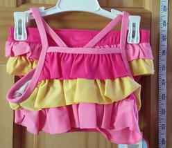 Wonder Kids Baby Clothes 12M Pink Yellow Ruffle Bikini Swimsuit Infant Swim Suit - $12.34