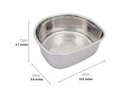 Characin Stainless Steel Dishpan Basin Dish Washing Bowl Portable Tub (D Shape) image 4