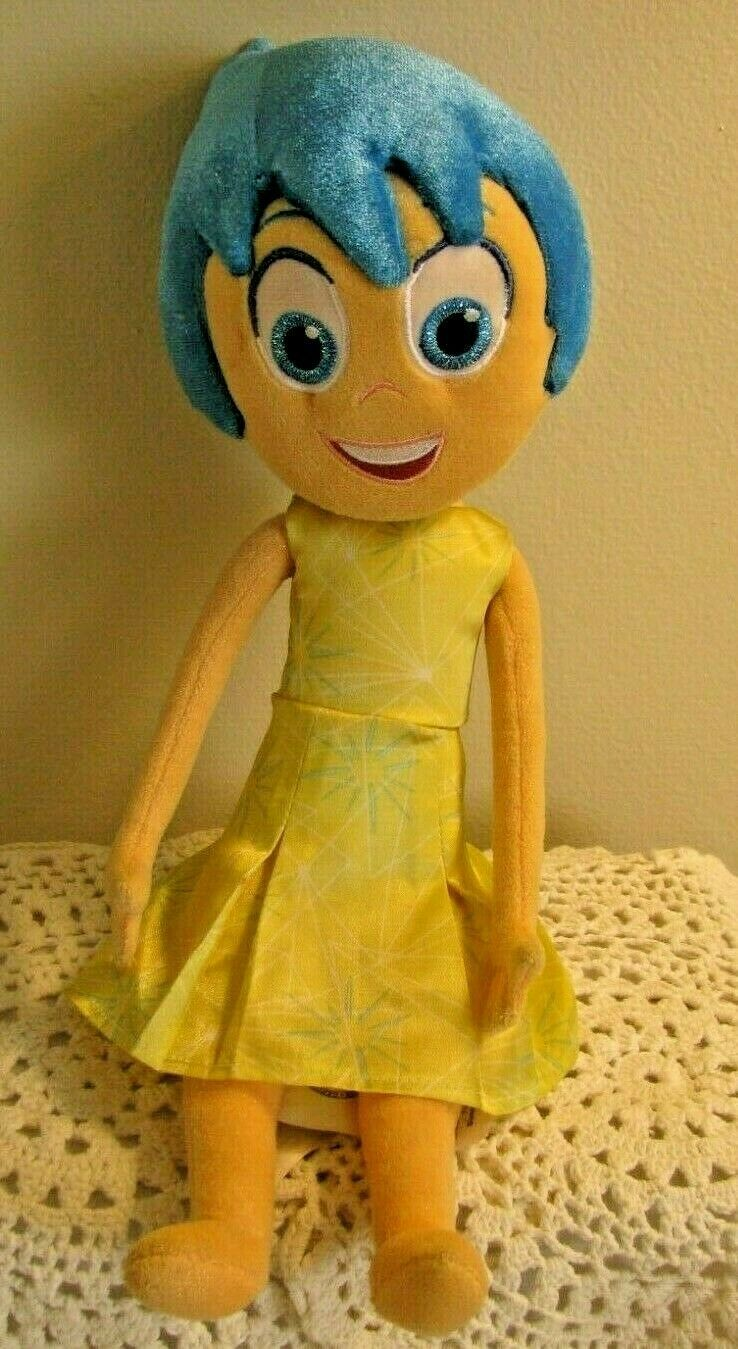"Primary image for Disney Store Frozen Anna 15"" Plush Toy Doll with yellow dress blue hair NICE!"
