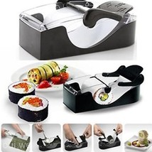 Kitchen Perfect Magic Roll Easy DIY Sushi Maker Roller Cutter Machine Ga... - $22.26
