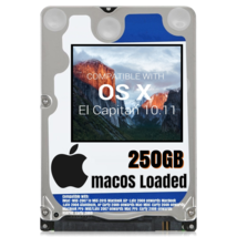 macOS Mac OS X 10.11 El Capitan Preloaded on 250GB Sata HDD - $24.99