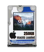 macOS Mac OS X 10.11 El Capitan Preloaded on 250GB Sata HDD - $24.99
