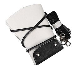 Hair Scissors Cosmetic Bag PU Leather Pouch Comb Bag Hair Stylist Pocket... - $35.77