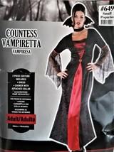 Countess Vampiretta Women's Vampire Costume Adult 2 Piece Dress Collar S... - $15.83
