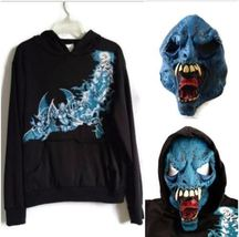 California Costume Boys Skater Black Hoodie & Mask Size XL 12-14 - $12.88